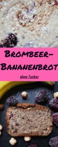 Brombeer-Banananbrot ohne Zucker: dieses gesundes und einfache Rezept für Bananenkuchen ist nur mit Beeren, Banane und Apfelmus gesüßt! Es schmeckt sogar zum Frühstück.