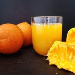 frischgepresster Orangensaft zuckerfrei