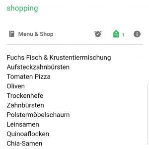 zuckerfrei einkaufen - meine aktuelle Einkaufsliste