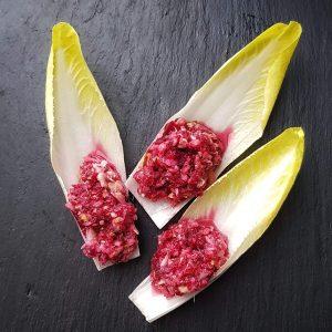 Chicorée-Salat: zuckerfreies Rezept mit Apfel und Rote Bete