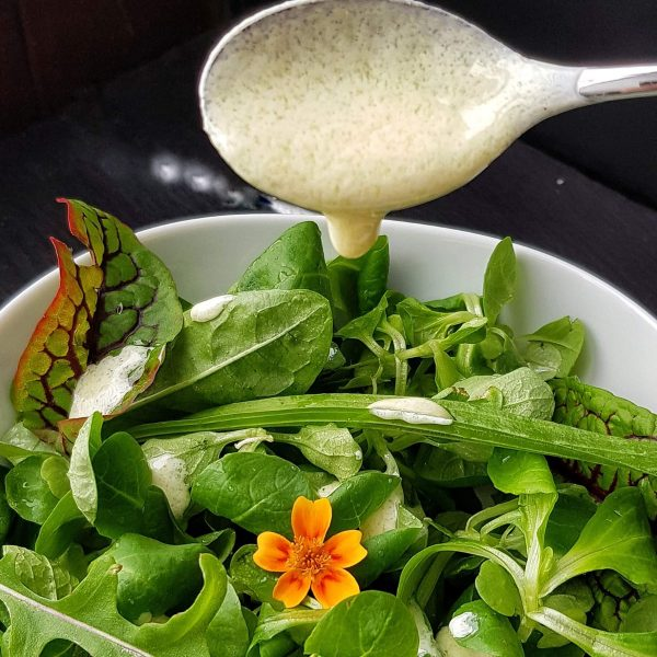 Salatdressing ohne Zucker (Rezept: zuckerfrei, glutenfrei)