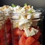 zuckerfreier Wassermelonensalat